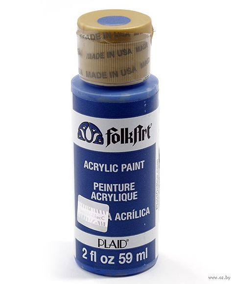 "Краска акриловая ""FolkArt. Acrylic Paint"" (синий кобальт, 59 мл; арт. PLD-00720)"