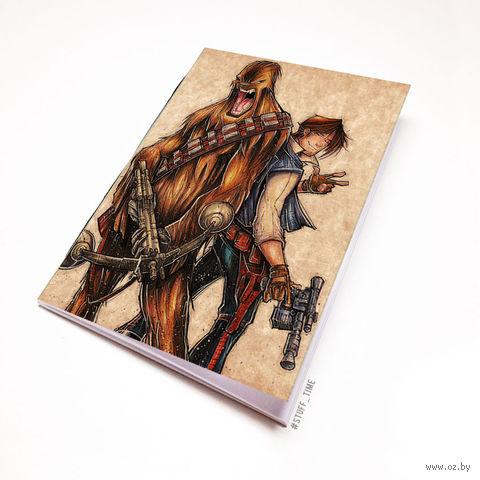 """Блокнот крафт """"Звездные войны"""" А6 (913)"""