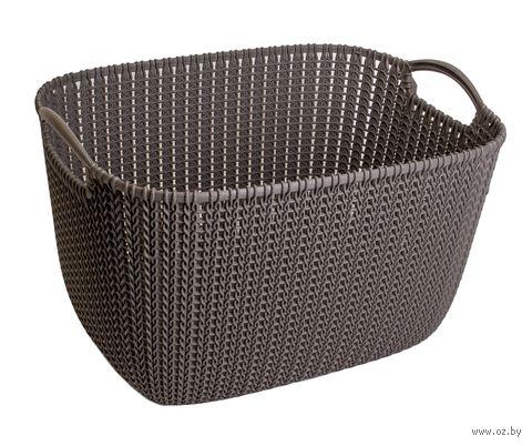 """Корзина """"Knit L"""" (темно-коричневая) — фото, картинка"""
