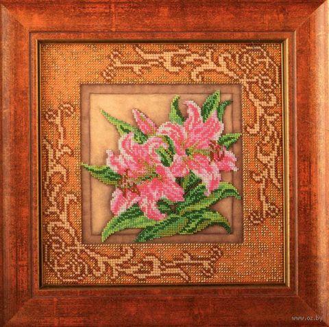 """Вышивка бисером """"Благоухающие лилии"""" (205х205 мм) — фото, картинка"""