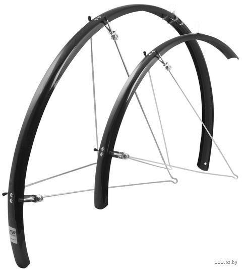"""Комплект щитков для велосипеда с подпорками """"Aluflex"""" (28""""; черный) — фото, картинка"""