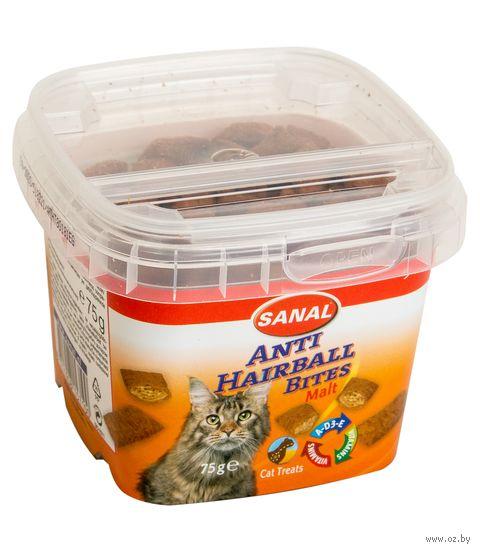 """Лакомство для кошек """"Malt Anti-Hairball Bites"""" (75 г) — фото, картинка"""