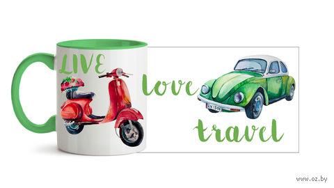 "Кружка ""Live. Love. Travel"" (арт. 497)"