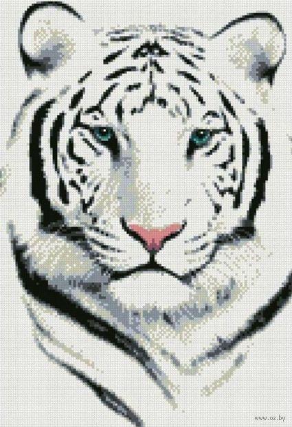 "Алмазная вышивка-мозаика ""Белый тигр"""