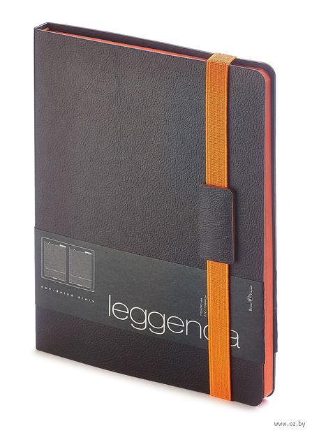"""Ежедневник недатированный """"Leggenda"""" (B5; черный) — фото, картинка"""
