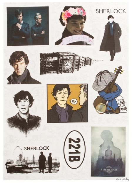 """Набор наклеек №623 """"Шерлок"""" — фото, картинка"""