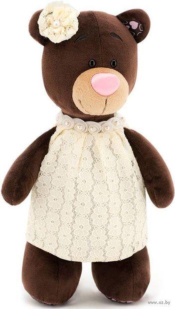 """Мягкая игрушка """"Медведь Milk в кружевном платье"""" (30 см) — фото, картинка"""
