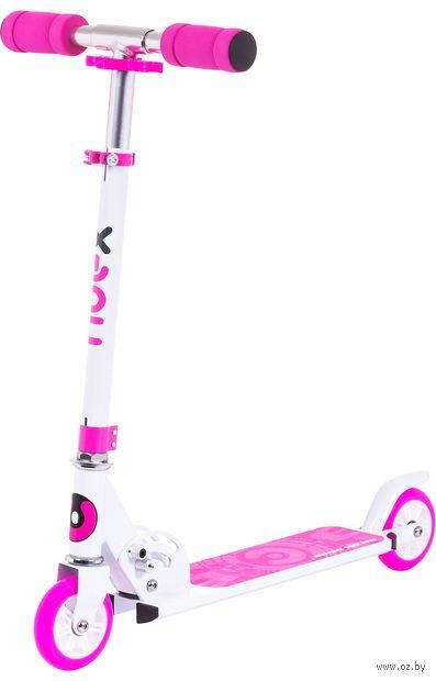 """Самокат двухколёсный """"Sonic"""" (бело-розовый) — фото, картинка"""