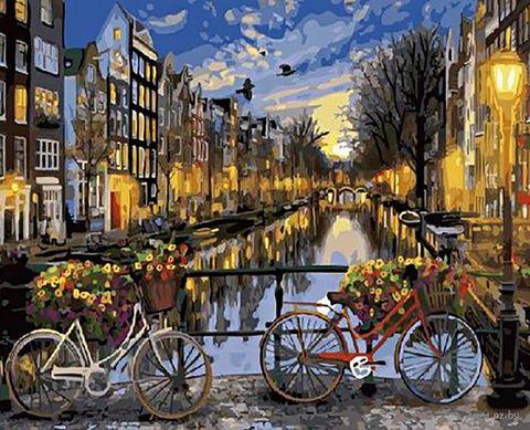 "Картина по номерам ""Ночной Амстердам"" (400х500 мм) — фото, картинка"