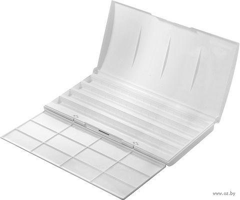 Коробка под акварель пластиковая (+ 2 палитры на 24 и 36 цветов)