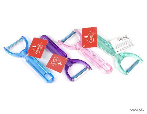 Скребок для очистки овощей металлический с пластмассовой ручкой (16*6,4 см, арт. M-280)