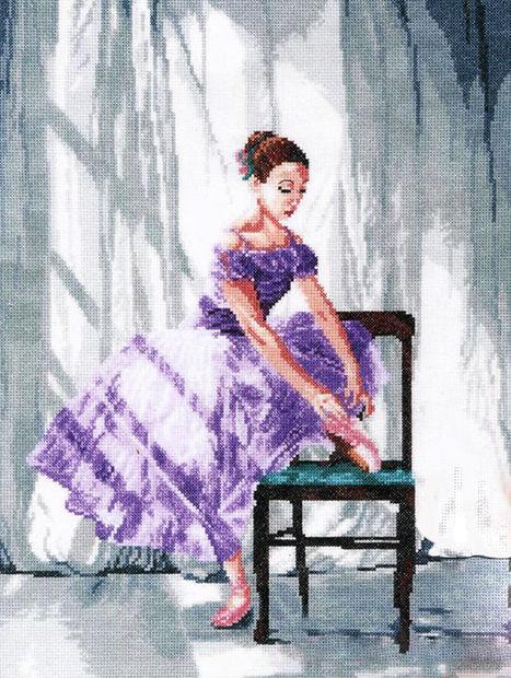 """Вышивка крестом """"Балерина"""" (310x420 мм) — фото, картинка"""