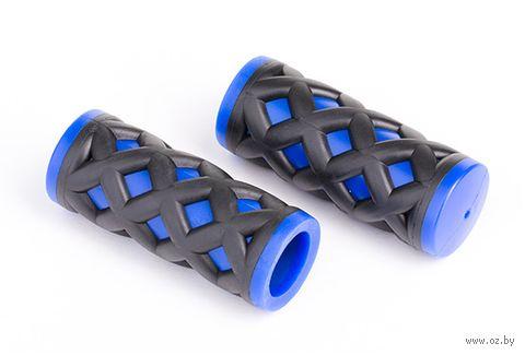 """Грипсы для велосипеда """"HY-500-3G"""" (чёрно-синие) — фото, картинка"""
