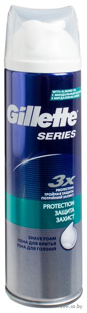 Пена для бритья Gillette Series Protection для защиты (250 мл)