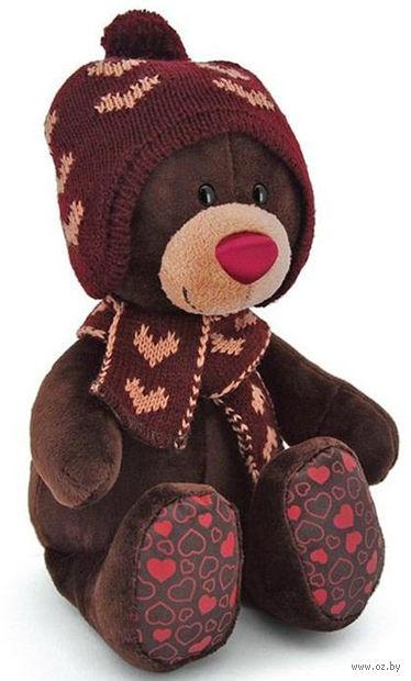 """Мягкая игрушка """"Медведь Choco. Зима"""" (25 см)"""