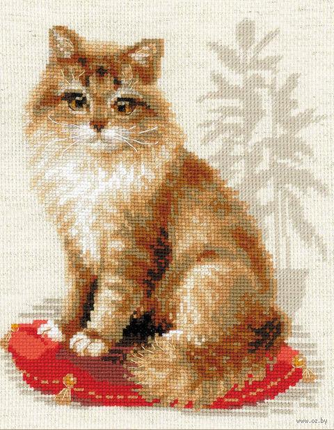 "Вышивка крестом ""Кошка домашняя"" (240х300 мм) — фото, картинка"