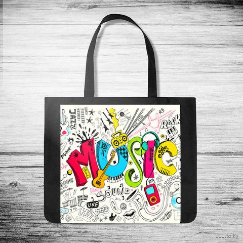 """Сумка-шоппер """"Music"""" (арт. 19) — фото, картинка"""
