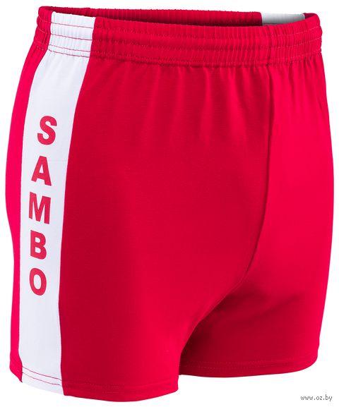 Шорты для самбо (р. 38; красные) — фото, картинка