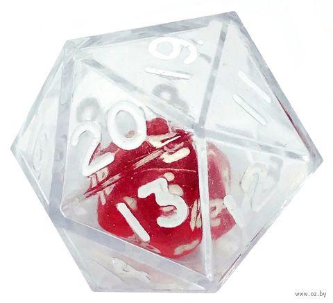 "Кубик D20 ""Инсайд"" (25 мм; белый) — фото, картинка"