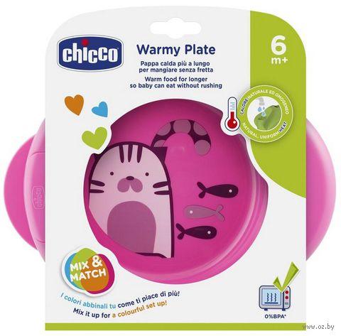 "Термотарелка ""Warmy Plate"" (розовая) — фото, картинка"