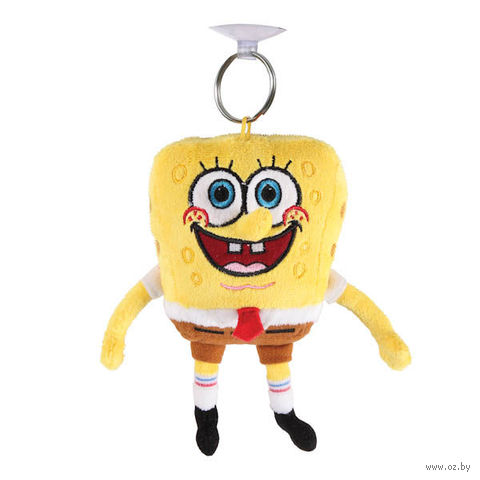"""Мягкая игрушка-брелок """"Губка Боб"""" (10 см)"""