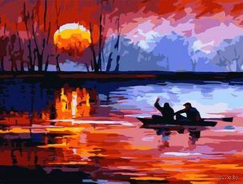 """Картина по номерам """"Рыбалка на закате"""" (400х500 мм)"""