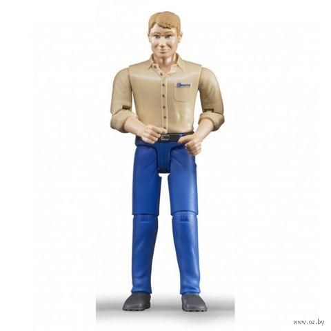 "Фигурка ""Мужчина в голубых джинсах"" (11 см) — фото, картинка"