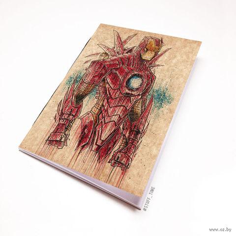"""Блокнот крафт """"Железный человек"""" А7 (арт. 866)"""