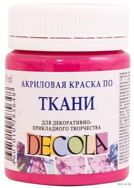 """Краска акриловая по ткани """"Decola"""" (розовая светлая; 50 мл) — фото, картинка"""