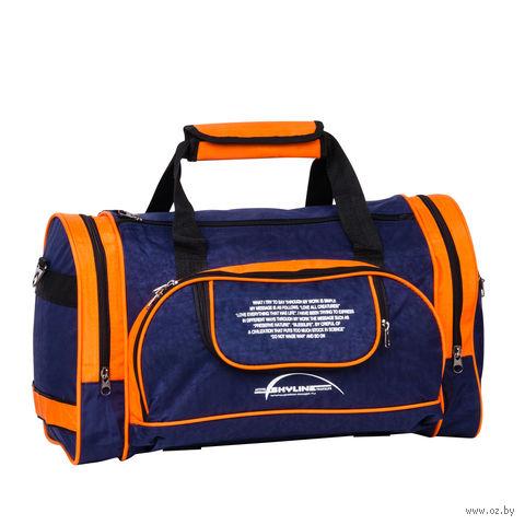 Сумка спортивная 6065с (37,5 л; сине-оранжевая) — фото, картинка