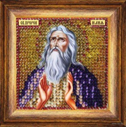 """Вышивка бисером """"Св. Пророк Илья"""" (65х65 мм; арт. 129ПМИ) — фото, картинка"""