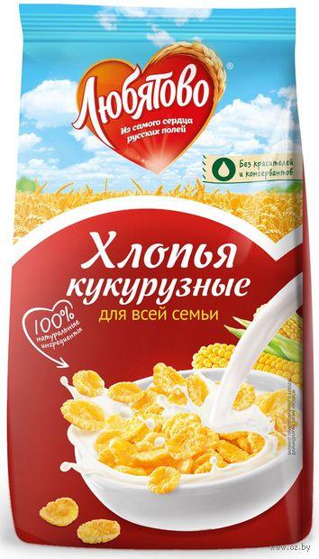 """Хлопья кукурузные """"Любятово"""" (300 г) — фото, картинка"""