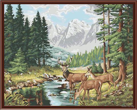 """Картина по номерам """"Идиллия в горах"""" (400х500 мм; цветной холст)"""