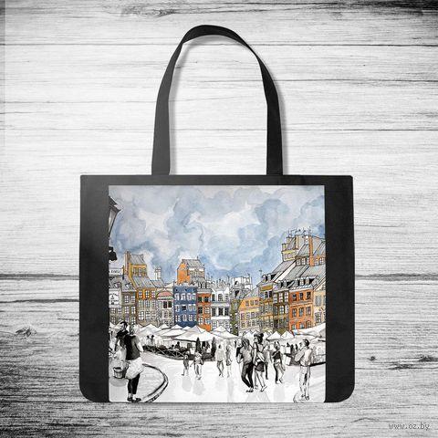 """Сумка-шоппер """"Городская площадь"""" — фото, картинка"""