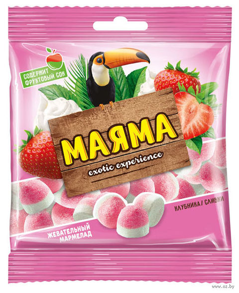 """Мармелад """"Маяма"""" (170 г; клубника и сливки) — фото, картинка"""