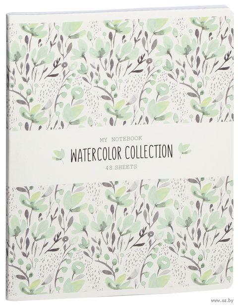 """Тетрадь полуобщая в клетку """"Watercolor Collection"""" (48 листов; в ассортименте) — фото, картинка"""