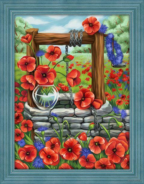 """Алмазная вышивка-мозаика """"Маковое поле"""" (300х400 мм) — фото, картинка"""