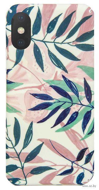 "Чехол для iPhone X/XS ""Pink Tropical"" (розовый) — фото, картинка"