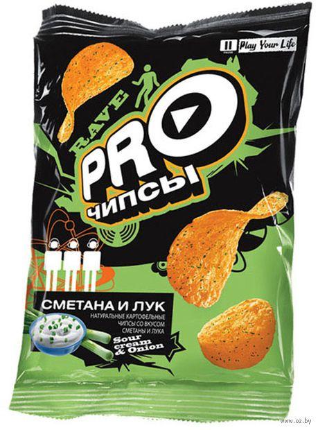 """Чипсы картофельные """"Pro-чипсы. Со вкусом сметаны и лука"""" (60 г) — фото, картинка"""