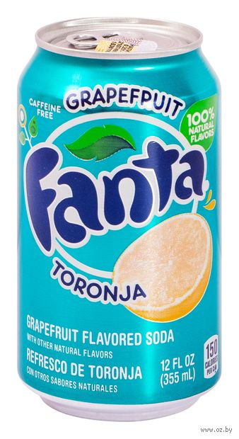 "Напиток газированный ""Fanta. Грейпфрут"" (355 мл) — фото, картинка"