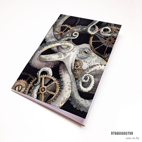 "Блокнот ""Стимпанк осьминог"" (А7; арт. 789) — фото, картинка"