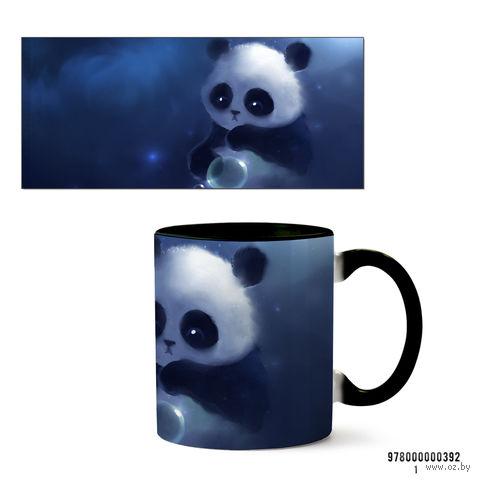 """Кружка """"Панда"""" (черная; арт. 392) — фото, картинка"""