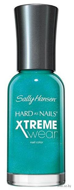 "Лак для ногтей ""Hard as nails xtreme wear"" (тон: 280, бирюзовый сверкающий) — фото, картинка"