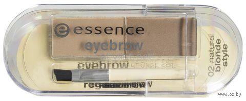 "Тени для бровей ""Eyebrow stylist set"" (тон: 02, natural blonde style) — фото, картинка"