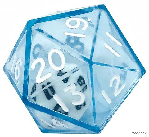 """Кубик D20 """"Инсайд"""" (25 мм; синий) — фото, картинка"""