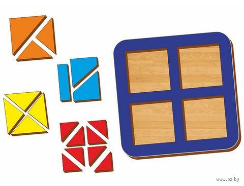 """Рамка-вкладыш """"Сложи квадрат. Уровень 2"""" (арт. 064204) — фото, картинка"""