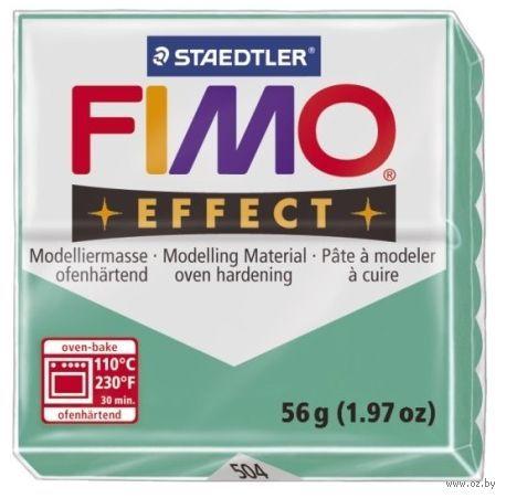 """Глина полимерная """"FIMO Effect"""" (полупрозрачный зеленый; 56 г)"""