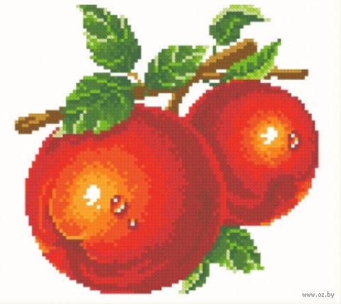 """Алмазная вышивка-мозаика """"Красные яблоки"""" (260х230 мм) — фото, картинка"""