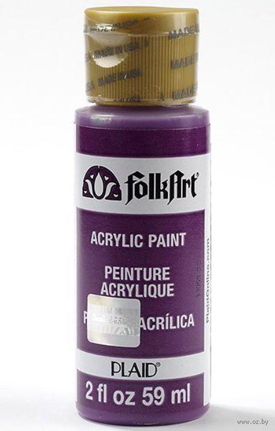 """Краска акриловая """"FolkArt. Acrylic Paint"""" (темный фиолетовый, 59 мл; арт. PLD-00523)"""