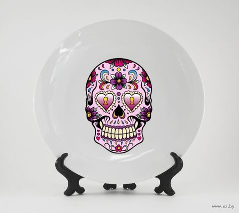 "Тарелка ""Мексиканский череп"" (159)"